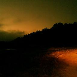 sunset streetlight nature beach