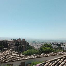 spain granada alhambra albaicin landscape palace city