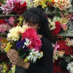 freetoedit flowers girl