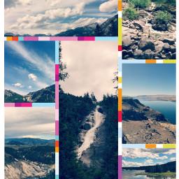 collage landscape art photo