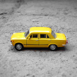 FreeToEdit car yellow minimal drive tiny