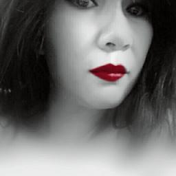 selfie blackandwhite colorsplash portrait artisticselfie freetoedit