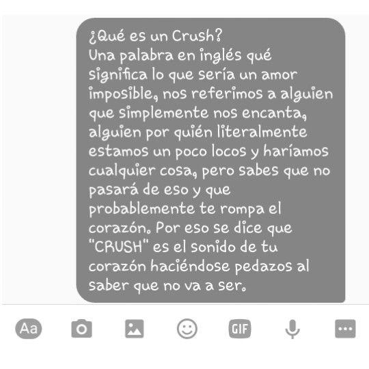 Que significa crush