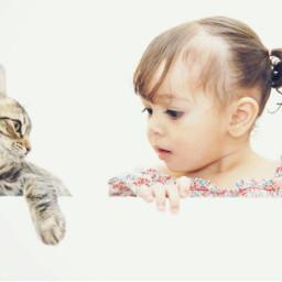 kids cat fanny arte animals freetoedit