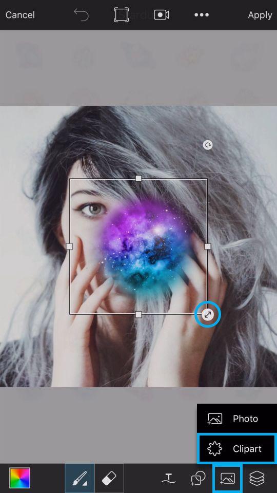 PicsArt Tutorial - Galaxy Skull 5