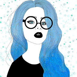 freetoedit people girl blue glasses