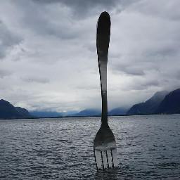 freetoedit fork lake scene foggy