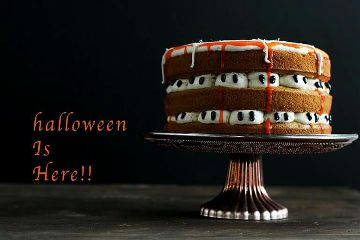 cake halloween orange pumpkin sweet