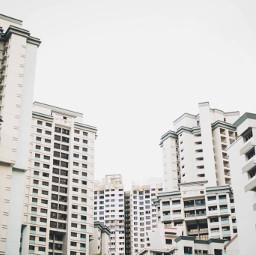 FreeToEdit city structure architecture design background building architecture color minimal