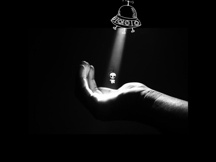 #FreeToEdit #alien #dark #light