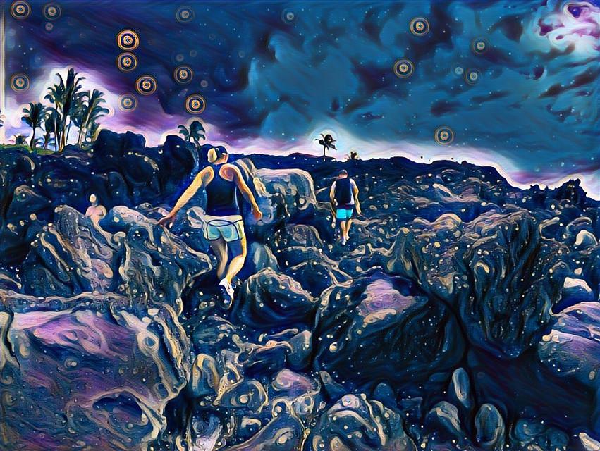 Life is what you make it. - #kona #hawaii #bigisland #island #art #magic #beach #volcano #live #adventure #explore #hiking #walk #nature #travel #freetoedit