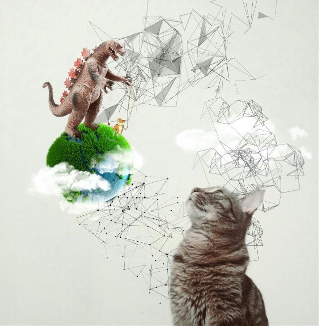 #CatImagination#catsofpicsart  #FreeToEdit Original Picture @elengrigoryan