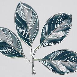 freetoedit leaves remix zentangle drawings wapneonoutlines