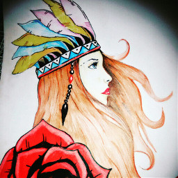 drawing indian_style beauty