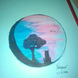 proudartist colorful sunset watercolor guhitpinas freetoedit