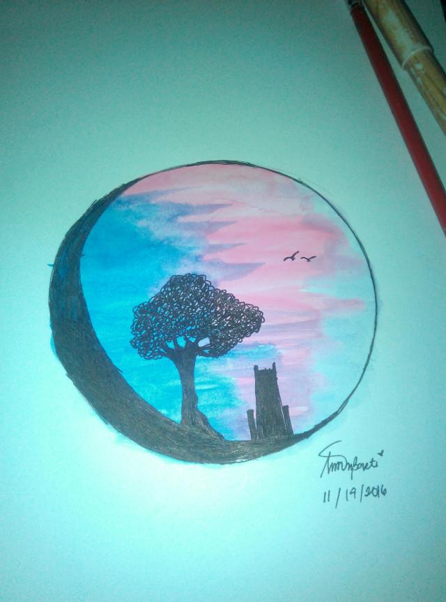 #proudartist  #colorful   #sunset  #watercolor #guhitpinas # #FreeToEdit