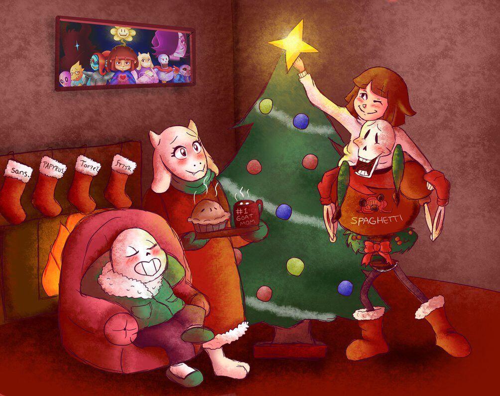 Undertale Christmas.An Undertale Christmas Undertale Asgore Papyrus Sans Al