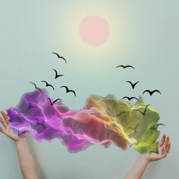 freetoedit smoke birds sun dailyremixmechallenge