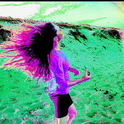 haircolor hair purple colorful beach freetoedit