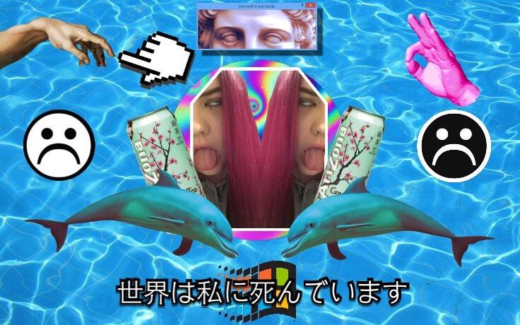 An edit of my friend em #FreeToEdit #vaporwave #vaporwaveart