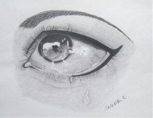 drawing eyes tears pencildrawing